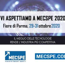 vi aspettiamo a Mecspe 2020, Fiere di Parma 29-31 ottobre